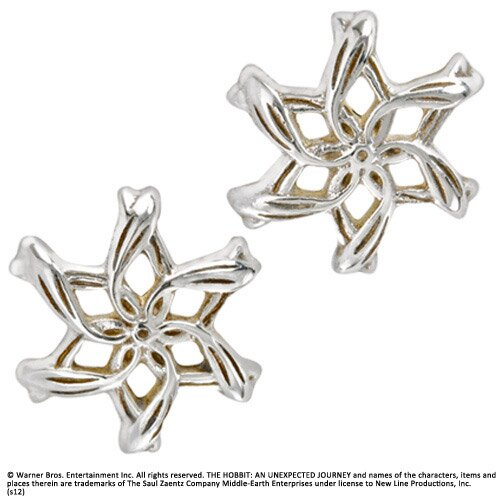 Srebrne Kolczyki Galadrieli z filmu Hobbit - Galadriel Ring Earrings
