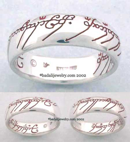 Sterling Silver The One Ring Red