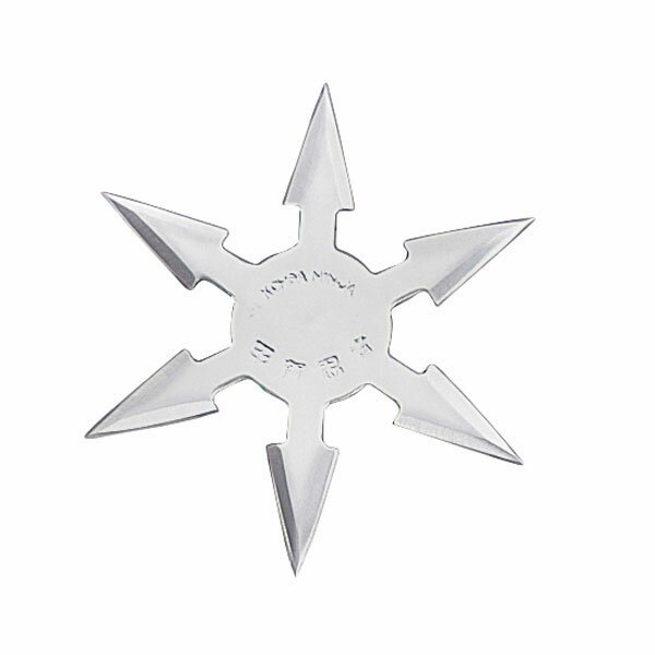 Throwing Star 6 Pt SS 4`` w/pouch