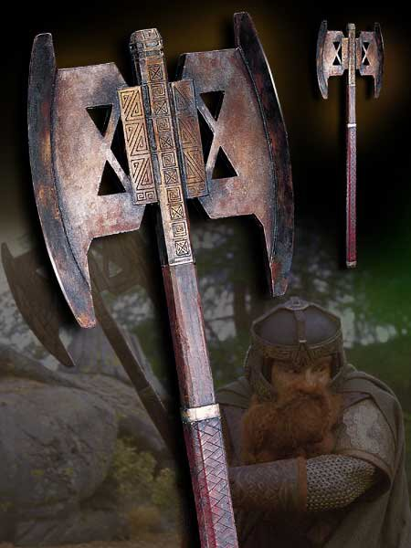 Topór bojowy Gimliego - LOTR Battle Axe of Gimli - Noble Collection