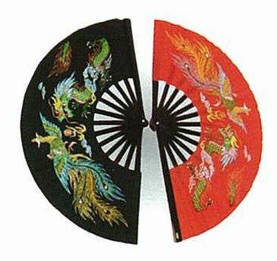 Wachlarz do Kung Fu - Dragon & Phoenix Black