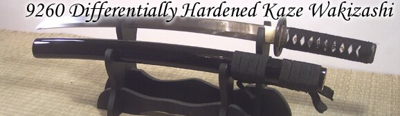 Wakizashi Cheness Kaze - 9260 Differentially Hardened Spring Steel
