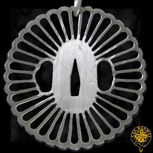 Wisiorek Hanwei Wheel Tsuba Pendant